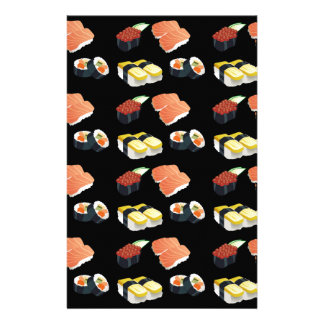 Sushi pattern stationery