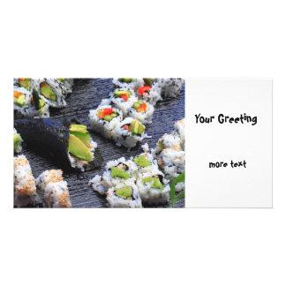 Sushi Customized Photo Card