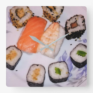 SUSHI!  > Photography Jean Louis Glineur Square Wall Clock