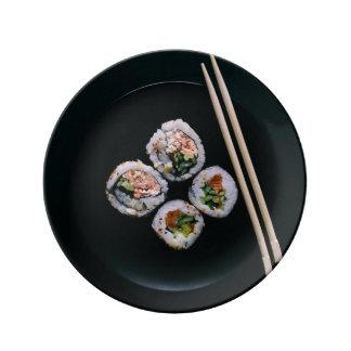 Sushi porcelain plate