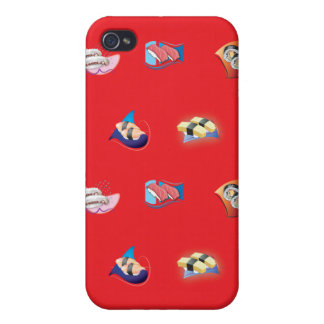 sushi red iPhone 4/4S covers