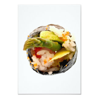 Sushi Roll Asparagus Rice Japanese Food Template Card