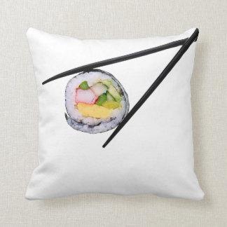 Sushi Roll & Chopsticks - Customized Template Cushion