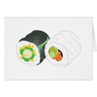 Sushi Rolls Card