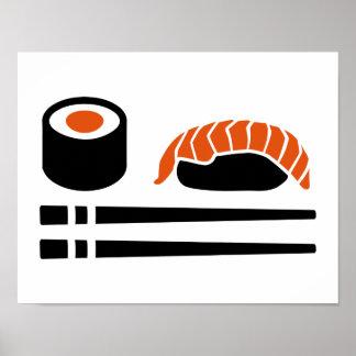 Sushi sashimi sticks poster