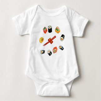 Sushi Set Watercolor2 Baby Bodysuit