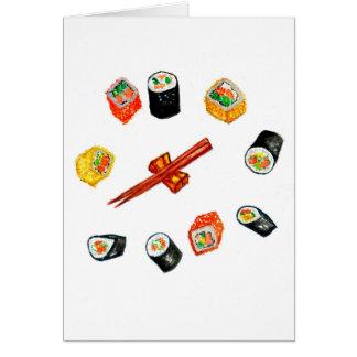 Sushi Set Watercolor2 Card