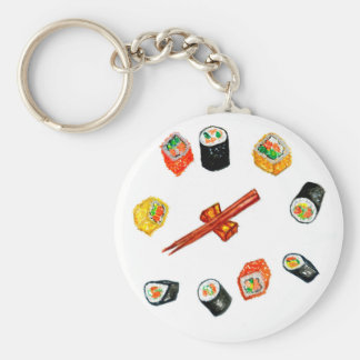 Sushi Set Watercolor2 Key Ring