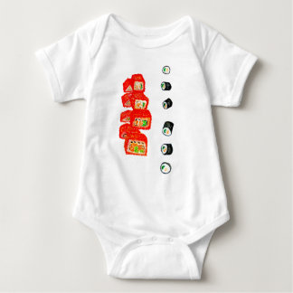 Sushi Set Watercolor3 Baby Bodysuit