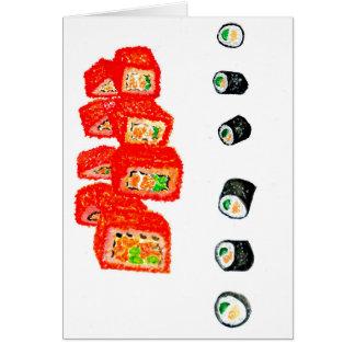 Sushi Set Watercolor3 Card