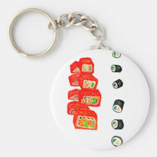 Sushi Set Watercolor3 Key Ring