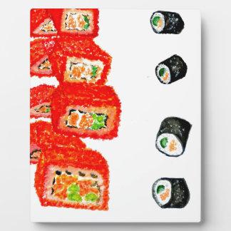 Sushi Set Watercolor3 Plaque