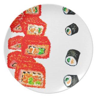 Sushi Set Watercolor3 Plate