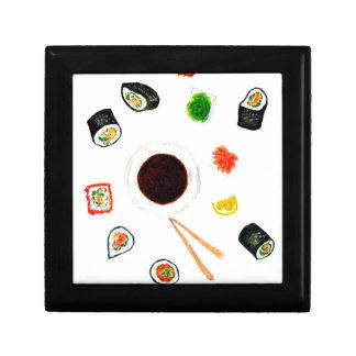 Sushi Set Watercolor Gift Box