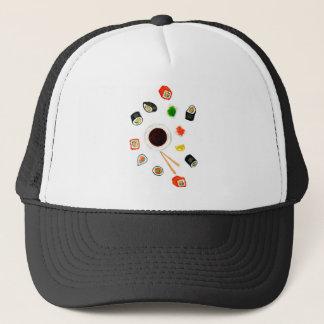 Sushi Set Watercolor Trucker Hat