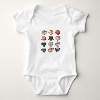Sushi T-Shirt: Cute & Moody Sushi Rolls Baby Bodysuit