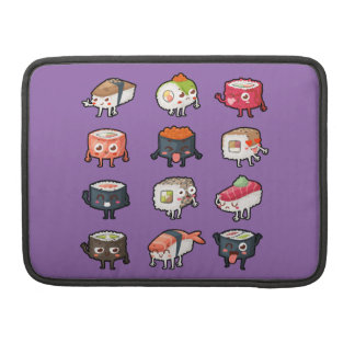 Sushi T-Shirt: Cute & Moody Sushi Rolls Sleeve For MacBook Pro