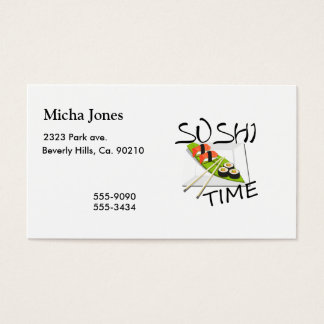 Sushi Time Business Card