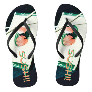SUSHI! time for your flip flops! Thongs