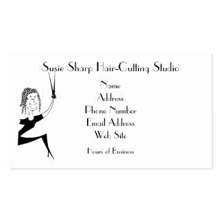 Susie Sharp HAIRDRESSER Line-art by B.B.B. Business Card