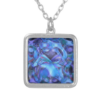 Suspended Animation Silver Plated Necklace