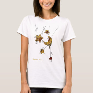 Suspended Crescent Moon and Stars T-Shirt