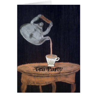 Suspended Teapot Tea Party Greeting Card