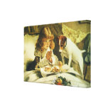 Suspense, Saying Our Prayers Charles Burton Barber Stretched Canvas Print