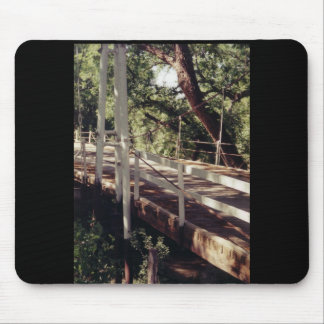 Suspension bridge mouse pad