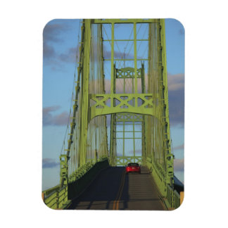Suspension bridge onto Little Deer Isle Rectangular Photo Magnet