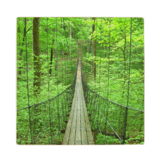 Suspension Bridge Wood Coaster