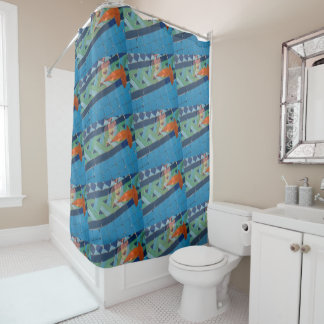 Suspension Shower curtain