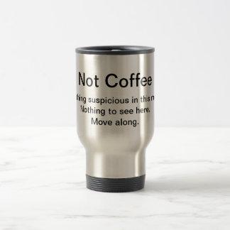 Suspicious Coffee Travel Mug