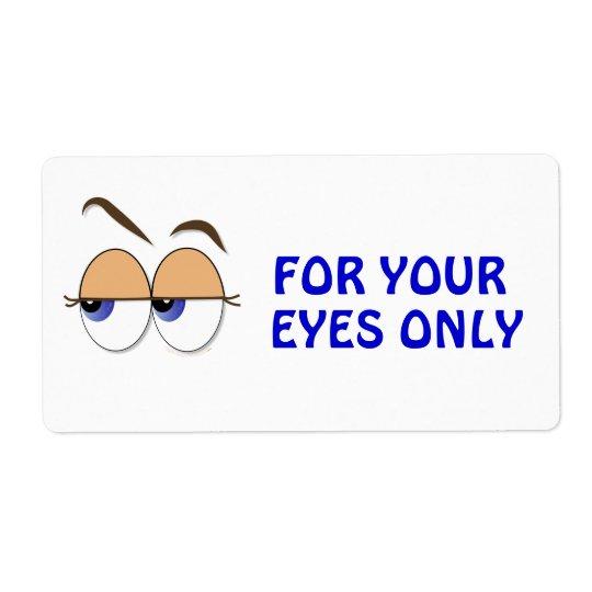 Suspicious Eyes Sideways Glance Confidential Shipping Label