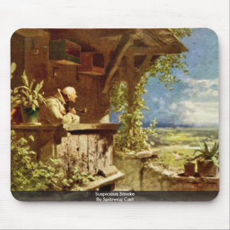 Suspicious Smoke By Spitzweg Carl Mouse Pad