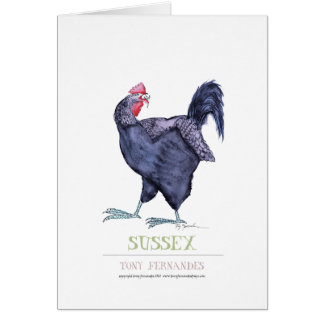 SUSSEX HEN, tony fernandes Greeting Cards