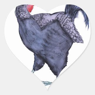 SUSSEX HEN, tony fernandes Heart Sticker