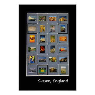 Sussex retro lightbox poster