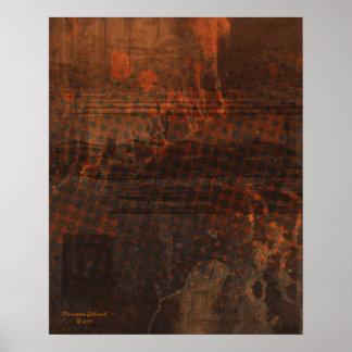 Sustain Rust Art Abstract Print