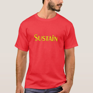 Sustain Yellow Color T-Shirt