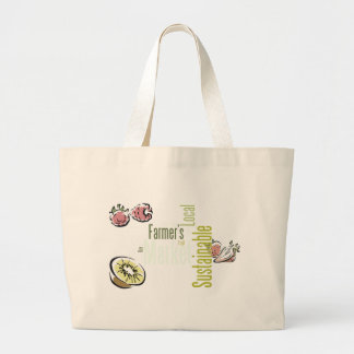 Sustainable Framers Market Large Tote Canvas Bags