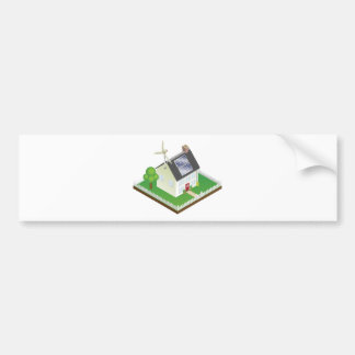 Sustainable renewable energy house bumper stickers