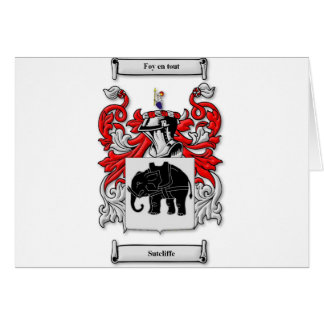 Sutcliffe Coat of Arms Card
