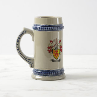 Sutherland Family Crest Coat of Arms Beer Stein