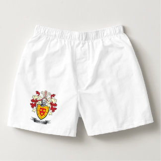 Sutherland Family Crest Coat of Arms Boxers