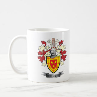 Sutherland Family Crest Coat of Arms Coffee Mug