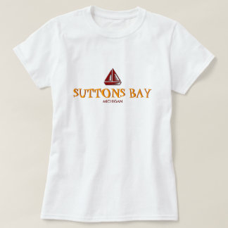 SUTTONS BAY, MICHIGAN, Ladies Baby Doll (Fitted) Tees