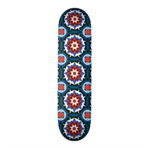 Suzani Pattern With Bold Ornament Skateboard