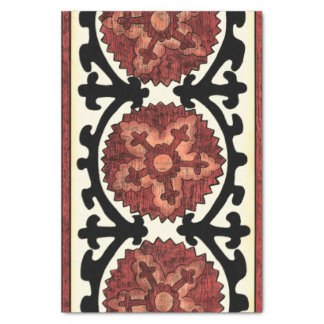 Suzani Style Decorative Floral Pattern Tissue Paper