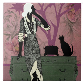 Suzanne & Cat, Vintage Fashion in Lilac & Green Tile
